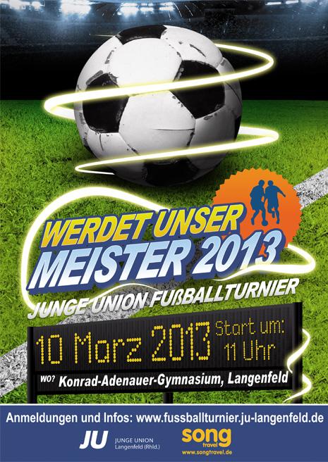 Hobbyteams kicken um den Sieg - Fußballturnier der JU Langenfeld geht in die nächste Runde